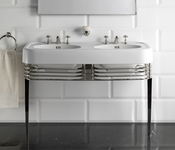 Wide Blues Console by Devon&Devon | Wash basins