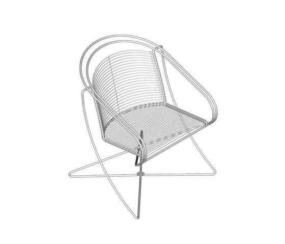 KSL 2.2 Round armchair di Till Behrens Systeme | Poltrone da giardino