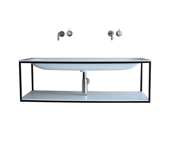 Frame with Blend basin by Not Only White B.V. | Vanity units