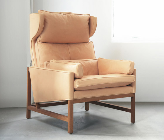 Wing Back Lounge Chair by BassamFellows | Armchairs