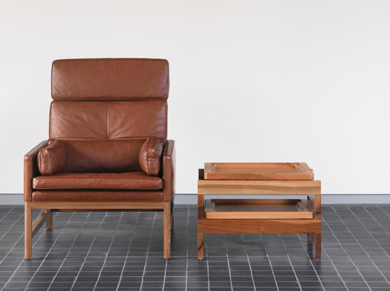High Back Lounge Chair by BassamFellows | Armchairs