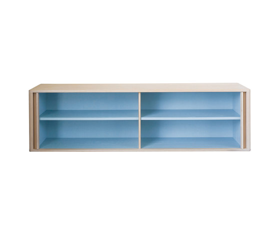 Tambour Wall Hung Credenza by BassamFellows | Cabinets