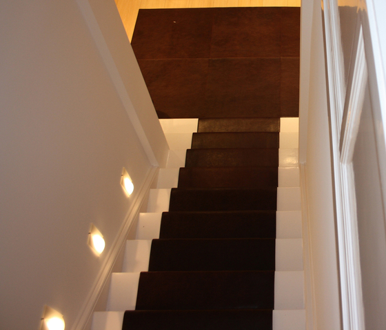 Stairrunner leather by KURTH Manufaktur | Leather flooring