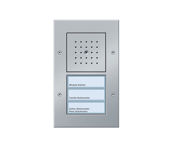 Door station AP 3-gang by Gira | Intercoms (exterior)