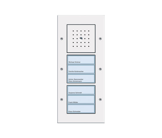 Door station AP 6-gang by Gira | Intercoms (exterior)