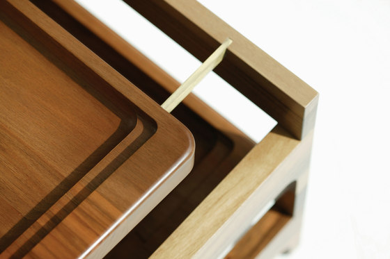 Tray Rack Side Table by BassamFellows | Trays