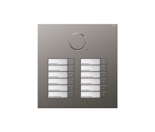 Door station stainless steel | 12-gang by Gira | Intercoms (exterior)