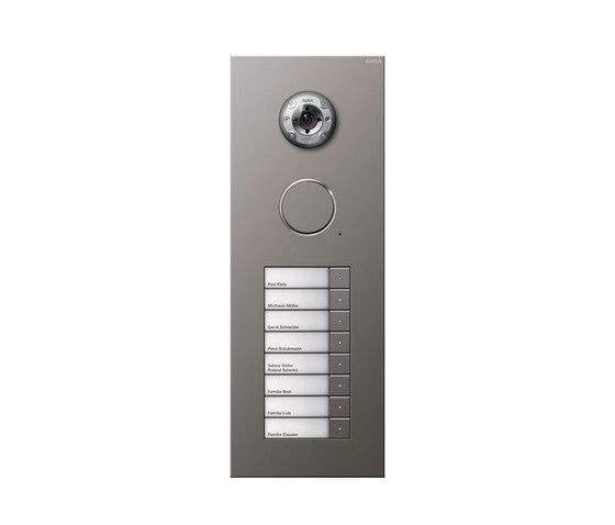 Door station stainless steel | 8-gang with video by Gira | Door bells