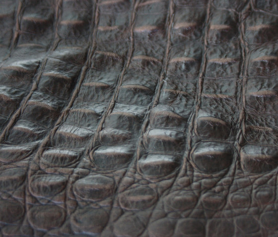 Leather croco embossed by KURTH Manufaktur | Natural leather