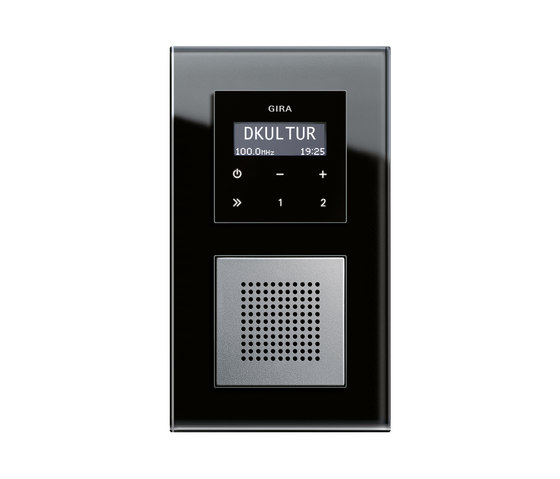 RDS flush-mounted radio | Esprit by Gira | Radio systems