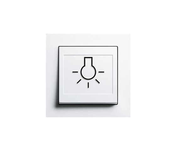 Switch with touch-activation symbol | E2 by Gira | Push-button switches
