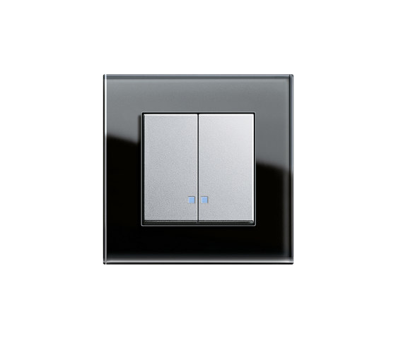 Series control switch with LED illumination element | E2 by Gira | Push-button switches