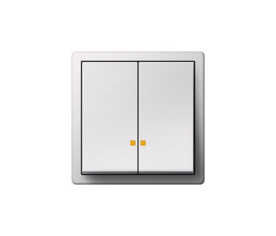 Series control switch with LED illumination element | F100 by Gira | Push-button switches