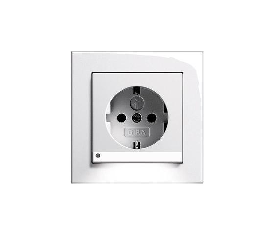 SCHUKO-socket outlet LED | E2 by Gira | Schuko sockets