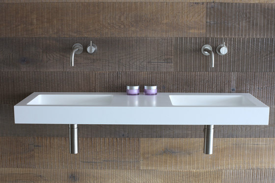 Base double basin by Not Only White B.V. | Wash basins