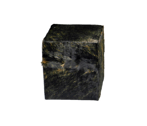 Seating cube from cowhide by KURTH Manufaktur | Poufs