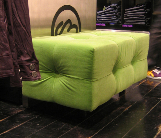 Marc 'o Polo | Lounge pouf by KURTH Manufaktur | Poufs