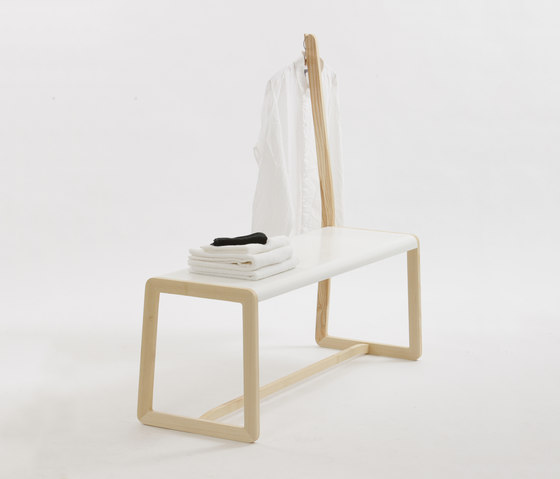 Private Space Bench by ellenbergerdesign | Clothes racks