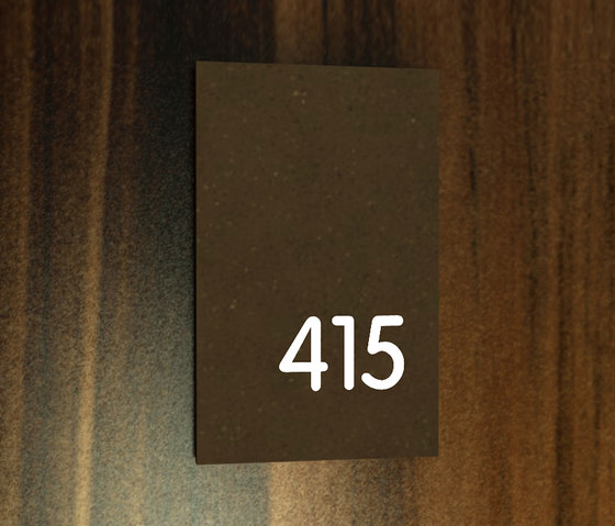 Lighthouse system signage 415 by AMOS DESIGN | Room signs