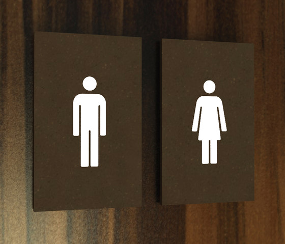Lighthouse system hotel toilets by AMOS DESIGN | Room signs