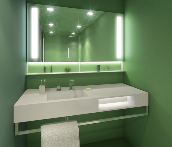 BUILT IN mirror green by AMOS DESIGN | Wall mirrors