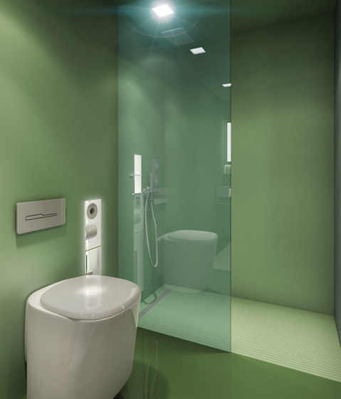 BUILT IN toilet/shower green by AMOS DESIGN | Shower cabins / stalls