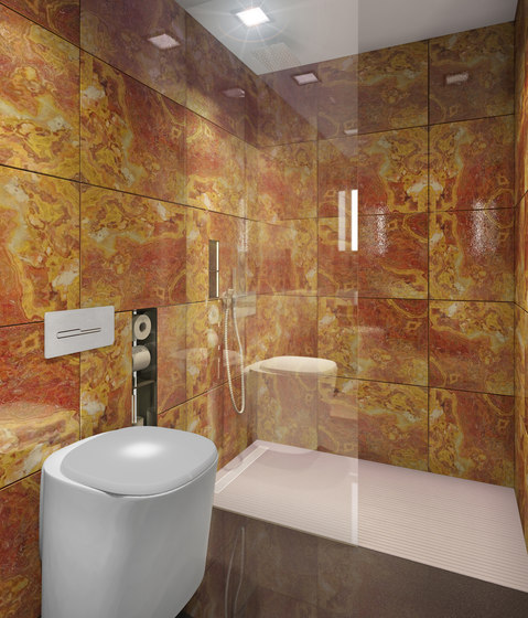 BUILT IN toilet/shower onyx by AMOS DESIGN | Shower cabins / stalls