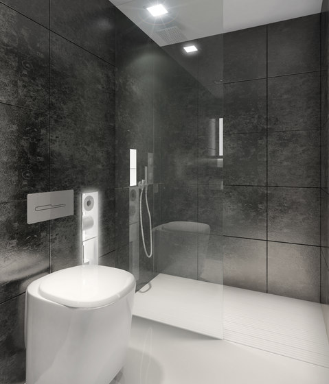BUILT IN toilet/shower black by AMOS DESIGN | Shower cabins / stalls