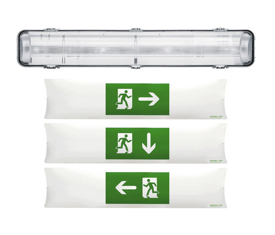 ONLITE PROOFSIGN by Zumtobel Lighting | Ceiling-mounted emergency lights