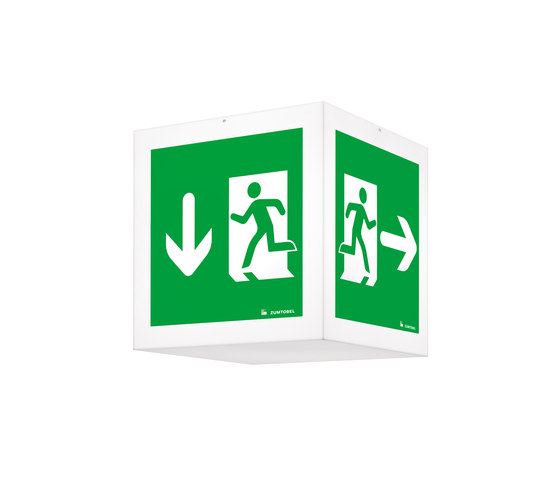 ONLITE CUBESIGN by Zumtobel Lighting | Ceiling-mounted emergency lights