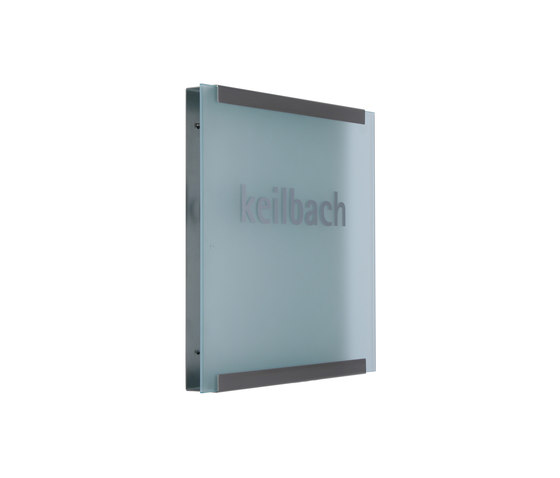 Glasnost.Display.Glass von keilbach | Raumbezeichnungsschilder