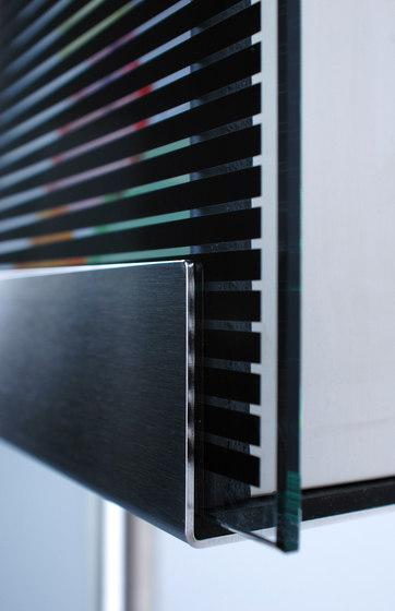 Glasnost.Glass.Black-Stripes Mailbox by keilbach   Mailboxes