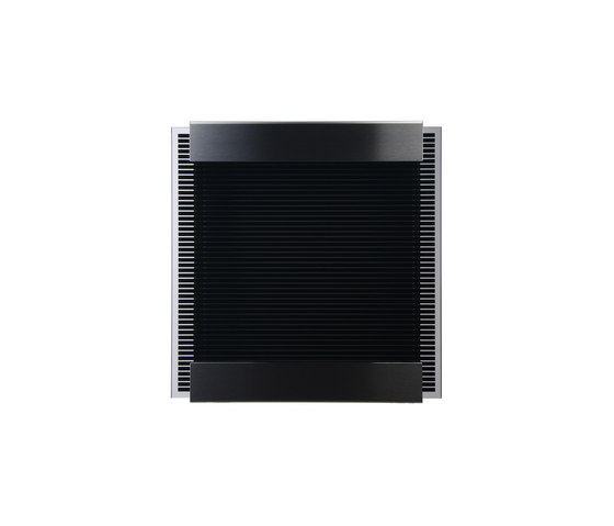 Glasnost.Glass.Black-Stripes Mailbox by keilbach | Mailboxes