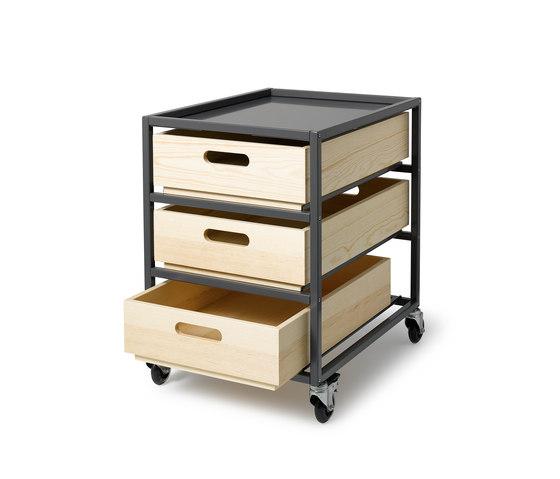 Utility Cart de Auerberg | Caissons mobiles pour bureaux