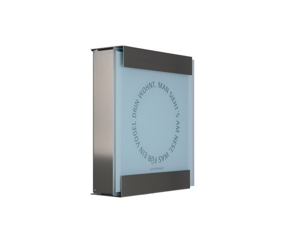 Glasnost.Glass.Nest Briefkasten von keilbach | Briefkästen
