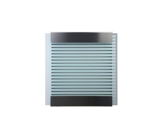 Glasnost.Glass.White-Stripes Mailbox by keilbach | Mailboxes