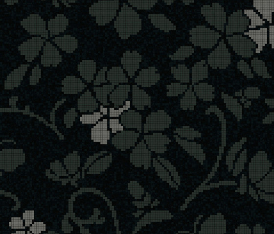 Hana Flower Dark A by Bisazza | Glass mosaics
