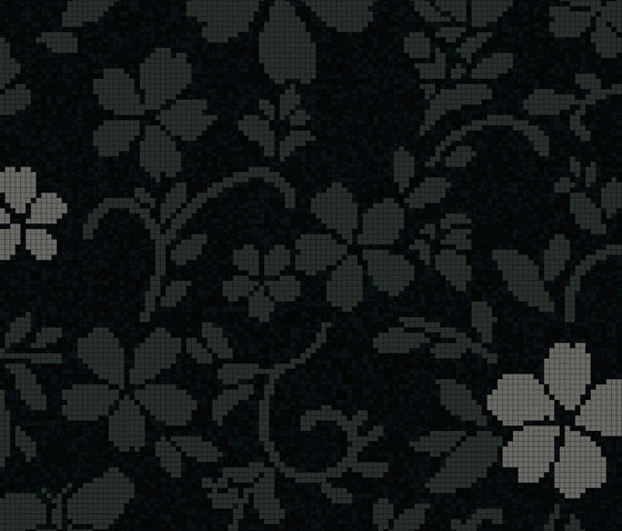 Hana Flower Dark B by Bisazza | Glass mosaics