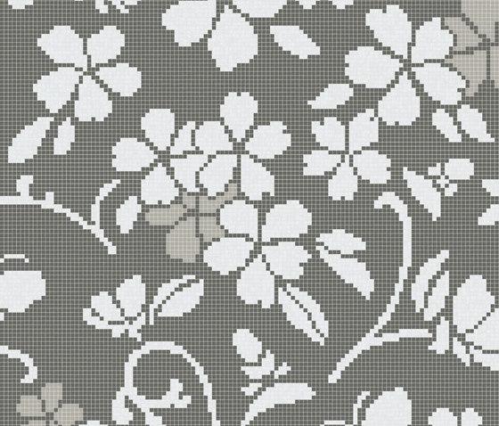 Hana Flower Grey A von Bisazza | Glas Mosaike