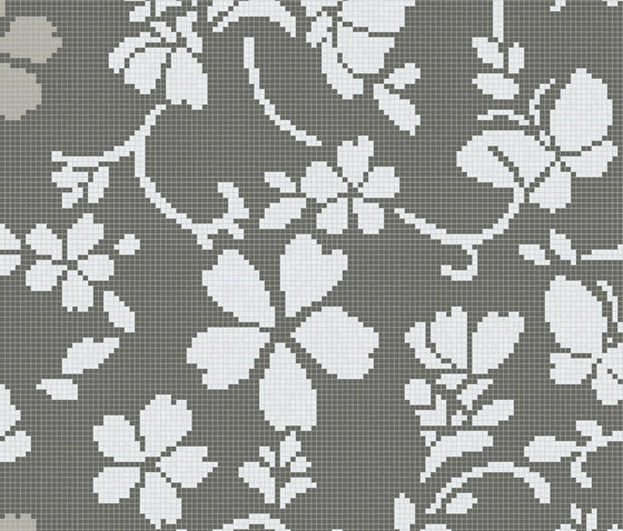 Hana Flower Grey B de Bisazza | Mosaïques