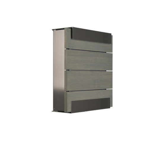 Glasnost.Wood.Grey Mailbox by keilbach | Mailboxes