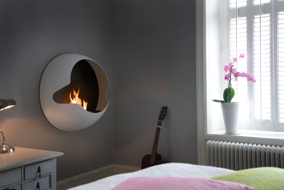 Cupola white by Vauni Fire | Ventless ethanol fires