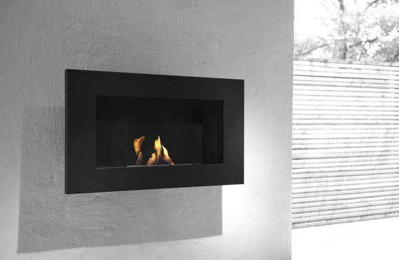 Edge black by Vauni Fire | Ventless ethanol fires