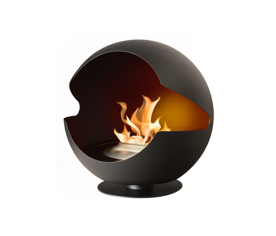 Globe metal black by Vauni Fire | Ventless ethanol fires