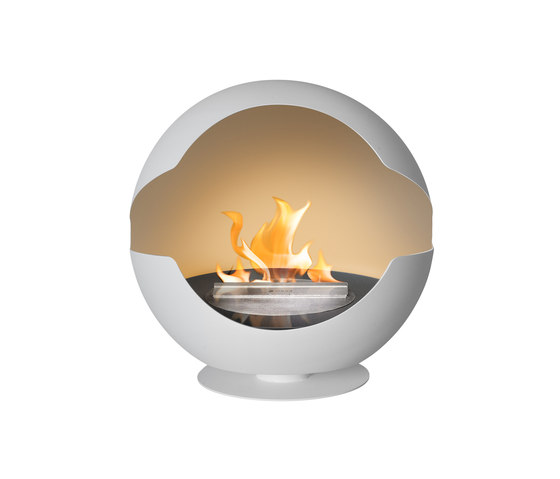 Globe stone white by Vauni Fire | Ventless ethanol fires