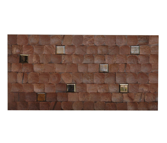 Cocomosaic tiles brown bliss with ceramic de Cocomosaic | Mosaïques en coco