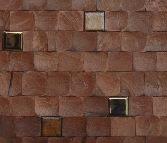 Cocomosaic tiles brown bliss with ceramic von Cocomosaic | Wandmosaike