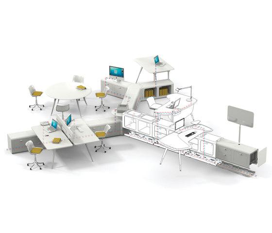 Beta duepuntozero di Tecno | Sistemi tavolo