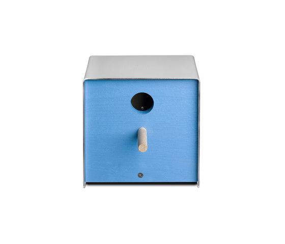Twitter.Blue Nesting Box by keilbach | Bird houses / feeders