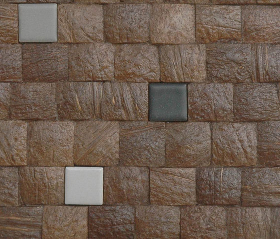 Cocomosaic tiles espresso grain with ceramic mix 102 di Cocomosaic | Piastrelle per pareti